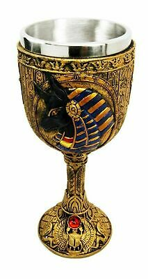 """6.75"""" Height Ancient Egyptian Egypt God of Underworld Anubis Wine Goblet Cup"""