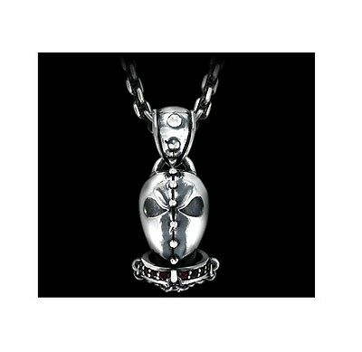 """Sterling Silver Soul Fetish 'The Mask' Pendant and 22"""" Chain"""