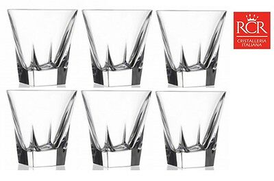 RCR Fusion Crystal Tumblers Whisky Vodka Glass Set of 6 (28cl)