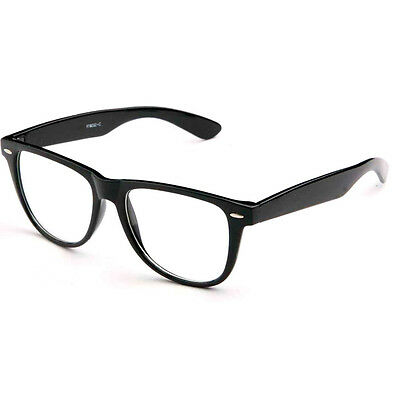 Fashion Retro Unisex Mens Womens Clear Lens Wayfarer Nerd Geek Glasses Eyewear !