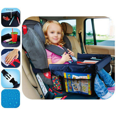Baby Snack Car Seat Table Safety Waterproof Kids Play Travel Tray Drawing Board
