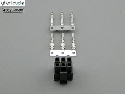 5 sets --- molex 43025-0600 Micro-Fit 3.0mm 6-circuits Housing & Crimp Terminal