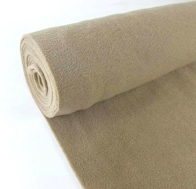 "5 Yards Tan Upholstery Durable Un-Backed Automotive Trim Carpet 40""x15 Ft Roll"