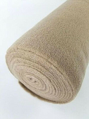 """5 Yards Tan Upholstery Durable Un-Backed Automotive Trim Carpet 40""""x15 Ft Roll"""