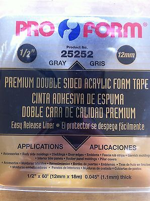"""Pro-Form Double Sided Attachment Tape 1/2"""" x 60'"""