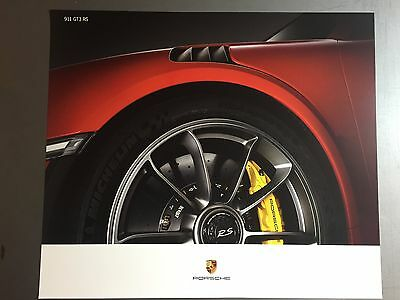2016 Porsche 911 GT3 RS Coupe Showroom Advertising Poster RARE!! Awesome L@@K