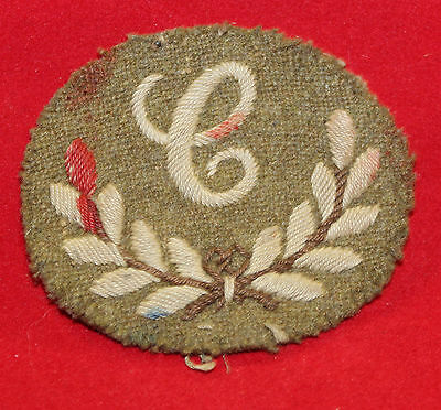 WW1era, Canadian / British 'C' Tradesman Cloth Trade Badge / Flash (inv 7336)