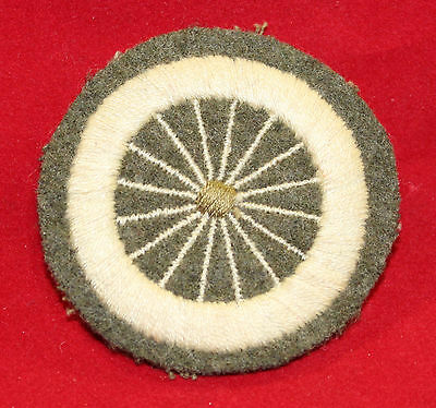 WW1 era, Canadian / British, Wheel Wright Cloth Trade Badge (inv 7340)