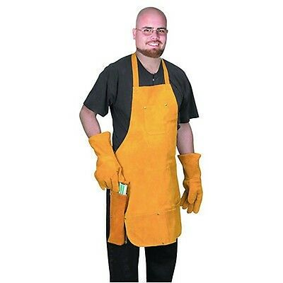 Leather Work Tool Shop Apron Bib Smock for Welding Welder Protector Gloves Kit