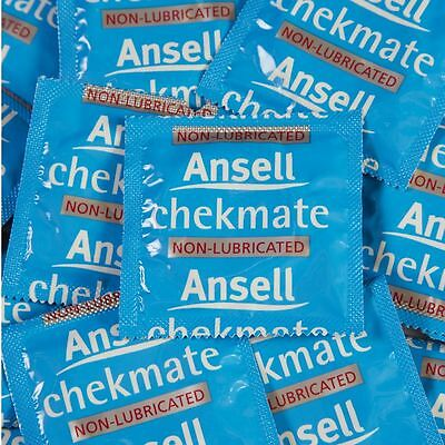 144 BULK PACK ANSELL CHEKMATE NON-LUBRICATED CONDOMS Checkmate Condom FREE POST