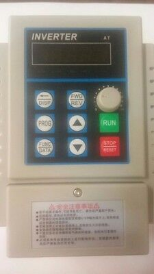 New   AT VARIABLE FREQUENCY DRIVE INVERTER converter VFD 220V 3PH AC1.5KW 2HP
