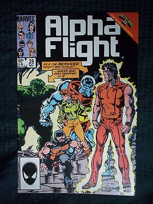 Marvel Comics # 28 1985 ALPHA FLIGHT  - SECRET WARS II