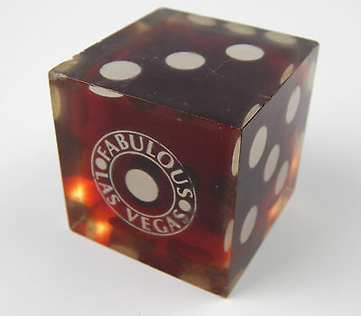 """Vintage Fabulous Las Vegas Casino Acrylic Lucite Red Dice Paperweight 2.25"""""""