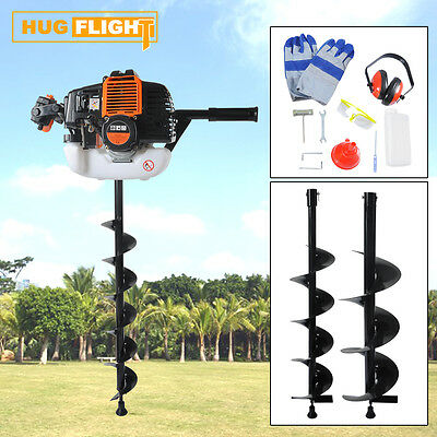 Earth Auger 52CC Post Hole Digger Gas Power auger Borer Fence Ground Drill 3 Bit