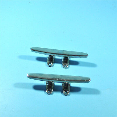 (2pcs) 6'' STAINLESS STEEL HEAVY DUTY CLEAT-DECK/BOAT/YACHT ISURE MARINE