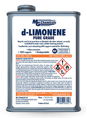 MG Chemicals 433-1L 1 Litre d-Limonene (Pure Grade) 3D Printing Chemical Clear