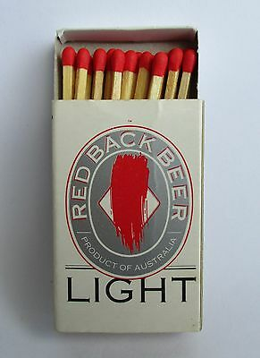 Red Back Light Beer full complete matchbox matches for home bar pub or collector
