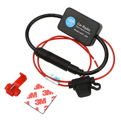 Car Auto Universal Antenna Signal Amplifier Booster Stereo Radio FM 88-108MHz