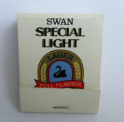 Swan Light Beer full complete matchbox matches for home bar pub or collector