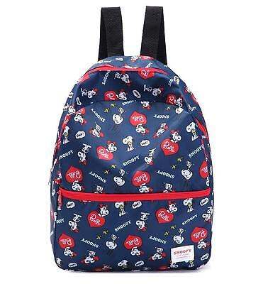 Super Cute Snoopy Peanuts Fiberflax Girls Boys Kids Backpack Schoolbag Bag Gifts