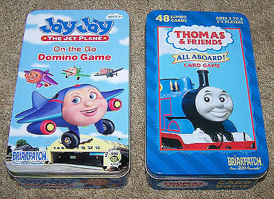 Thomas & Friends All Aboard! Card Game & JayJay The Jet Plane On The Go Domino G