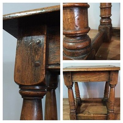 17th Century Style  Edwardian Jointed Stool Country House Antique
