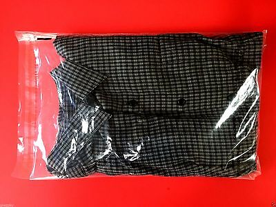 """11 x 16"""" Clear Poly Dress Shirt Self Adhesive Seal Plastic Bags 2"""" Flap With S/W"""