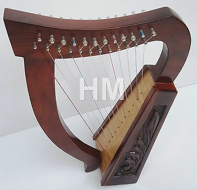 NEW IRISH HARP 12 STRING SHEESHAM WOOD/CELTIC HARP ROSE WOOD/12 Cuerdas Arpa