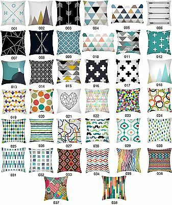 Geometric Vintage Pattern Cushion Cover Home Kids Room Decor Throw Pillow Case