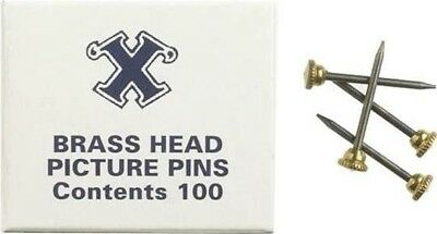 Brass Headed Pins - Pack of 100 - Boxed