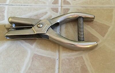 """vintage Sargent & Co.  """"eyelets"""" hole punch-paper drill Great condition"""
