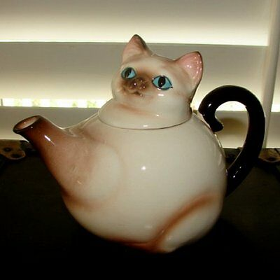 RARE Vintage Norcrest Siamese Kitty Cat Teapot or Coffee Pot - MINT Condition