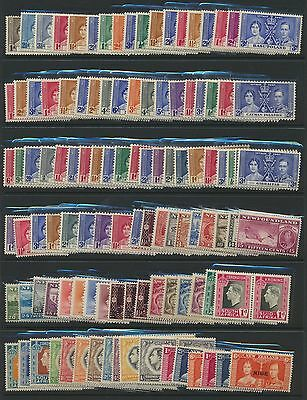 1937 Coronation Complete Omnibus MM all sets 202 stamps