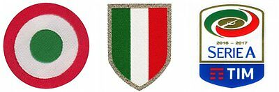 Official Juventus Serie A Football Patch Set 2016/2017 Soccer Jersey Badges NEW