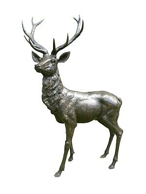 Life Size Bronze Stag