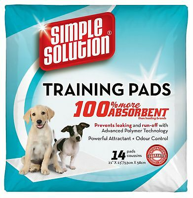 Simple Solution Disposable Puppy Training Pads - (53 x 58cm) - Pack of 14