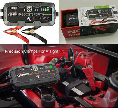 BOOSTER GENIUS GB20 SPORT BY NOCO (Back-Up USB Power Supply)FOR  MOTO/AUTO/QUAD
