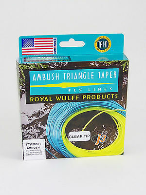 Royal Wulff Ambush Floating Fly Line With Clear Sinking Tip For 8 Wt Rods
