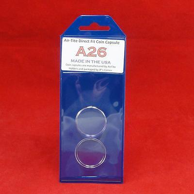 AirTite Direct Fit Coin Holder Capsules - Individual Retail Pkg Model A26 Qty 4