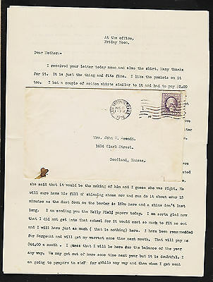 OPC 1918 San Antonio Tx to Kansas 2pg typed letter To mother latest news on war