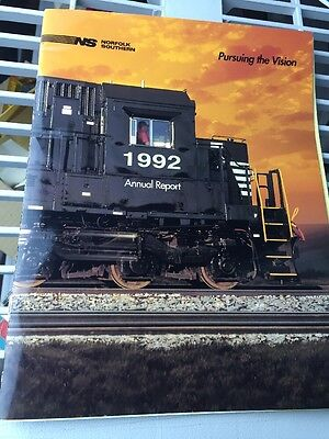 1992 Norfolk Southern Railroad Annual Report