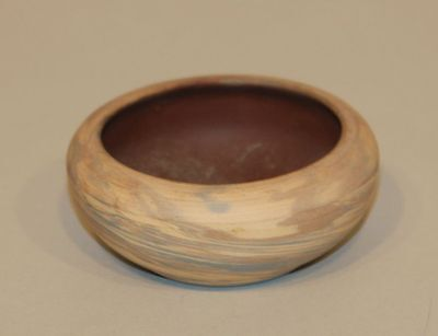 Evans / Niloak Pottery Mission Swirl 3-1/2 Inch Small Bowl