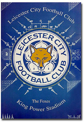 """The Foxes King Power Stadium Leicester City F.C. Fridge Magnet Size 2.5"""" x 3.5"""""""