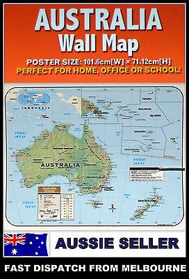 NEW MAP OF AUSTRALIA EDUCATIONAL POSTER (101x71cm) AUSSIE WALL CHART NEW LARGE