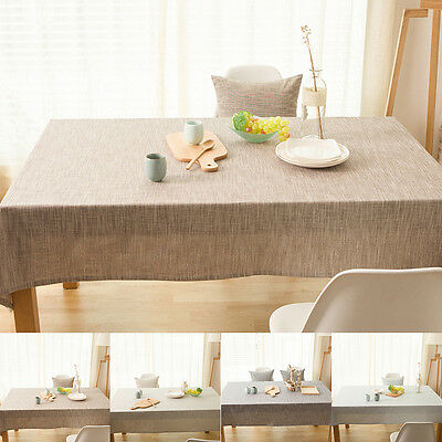 Simple Modern Japanese Style Plain Table Cloth Runner Linen Cotton Table Cover