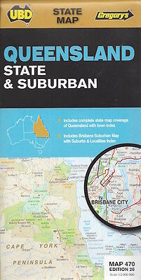 UBD Queensland State & Suburban Map *FREE SHIPPING - NEW*