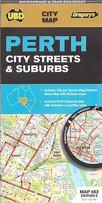 UBD Perth City Streets & Suburbs Map *FREE SHIPPING - NEW*
