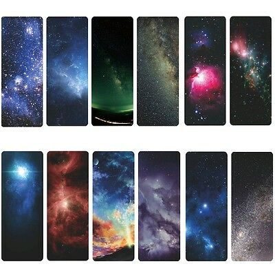 12PCS Galaxy Of Stars Shining Literary Fans Paper Bookmark Best  High Quality