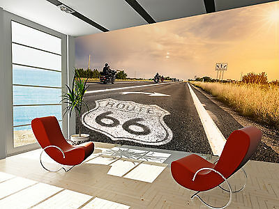Historic Route 66 Wall Mural Photo Wallpaper GIANT DECOR Paper Poster Free Paste