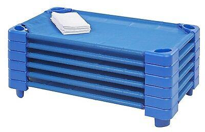 Childrens School 6-Pieces Stackable Classroom Toddler Resting Sleeping Bed Cots